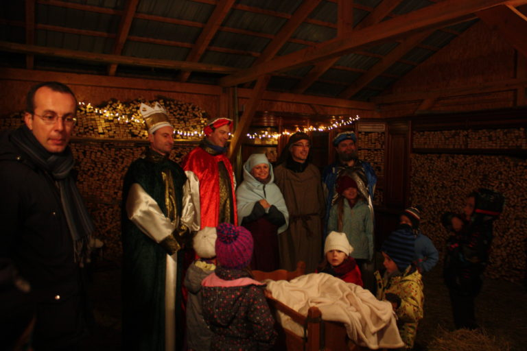 V decembri sme spoluorganizovali Živý Betlehem pri kostole sv. Márie Magdalény. Detskí návštevníci sa tešili najmä zo živých zvieratiek.